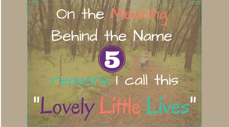 on the meaning behind the name, 5 reasons I call this lovely little lives