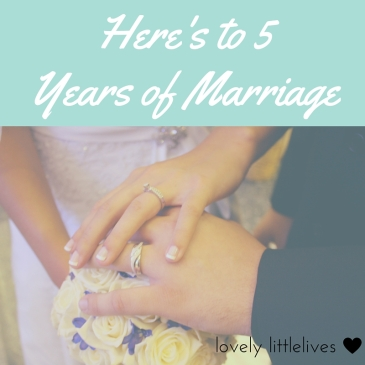 Here's to 5 years of Marriage