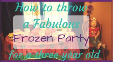 how to throw a fabulous frozen birthday party for a little girl